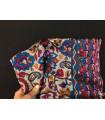 1241 - Stole of pashmina, silk, batik